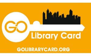 Go Library Card Key to city with writing