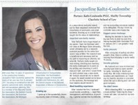 Jacqueline Kaltz-Coulombe nominated for Prestigious Honor