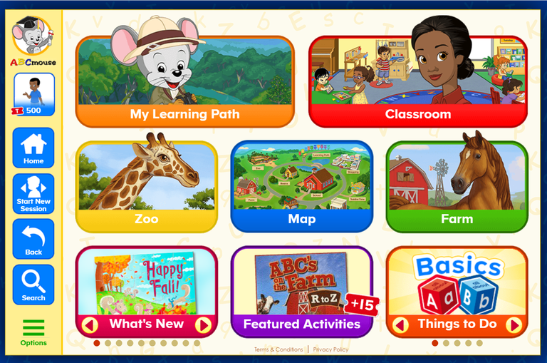 A ScreenShot of the Library Edition of ABC Mouse